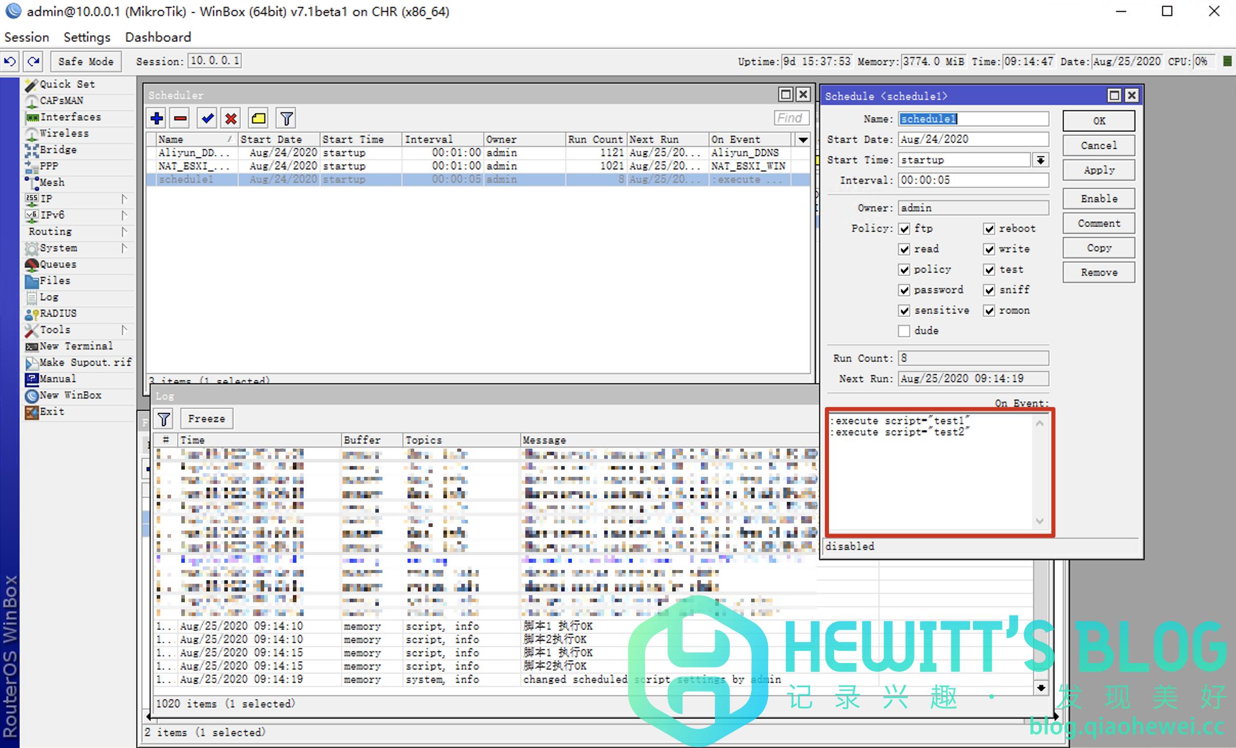RouterOS(ROS)定时任务执行多个Script脚本插图1